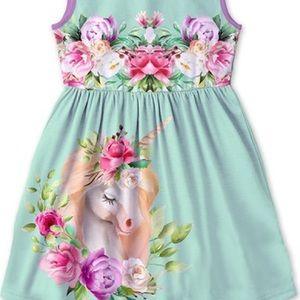 Dresses - 🦄 Lavender & Turquoise Green Unicorn Betsy Dress